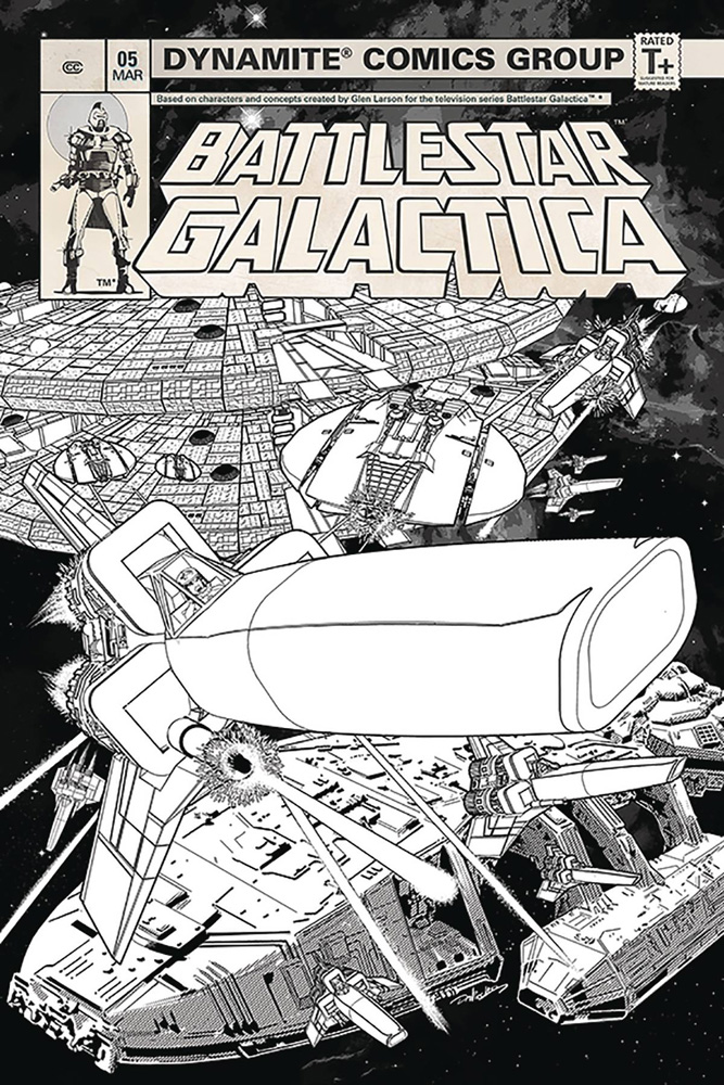 Image: Battlestar Galactica #5 (Classic) (incentive cover - HDR B&W) (20-copy)  [2019] - Dynamite