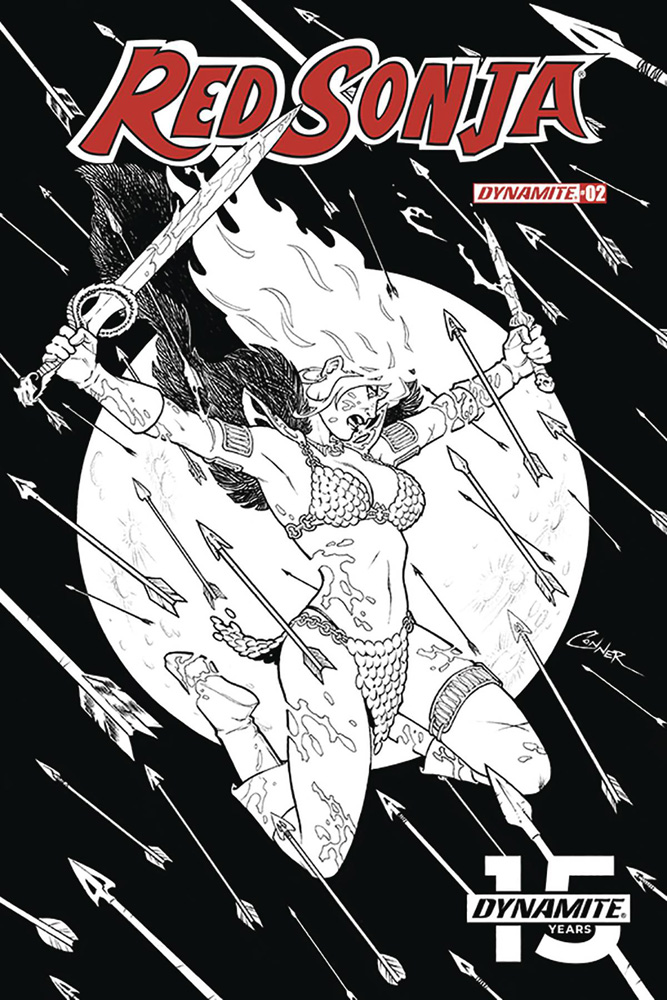 Image: Red Sonja Vol. 05 #2 (incentive cover - Conner B&W) (20-copy)  [2019] - Dynamite