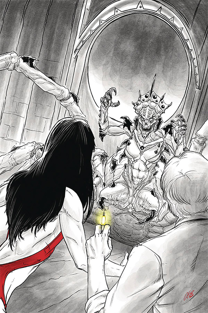 Image: Vampirella vs. Reanimator #4 (incentive cover - Shepherd virgin) (25-copy)  [2019] - Dynamite