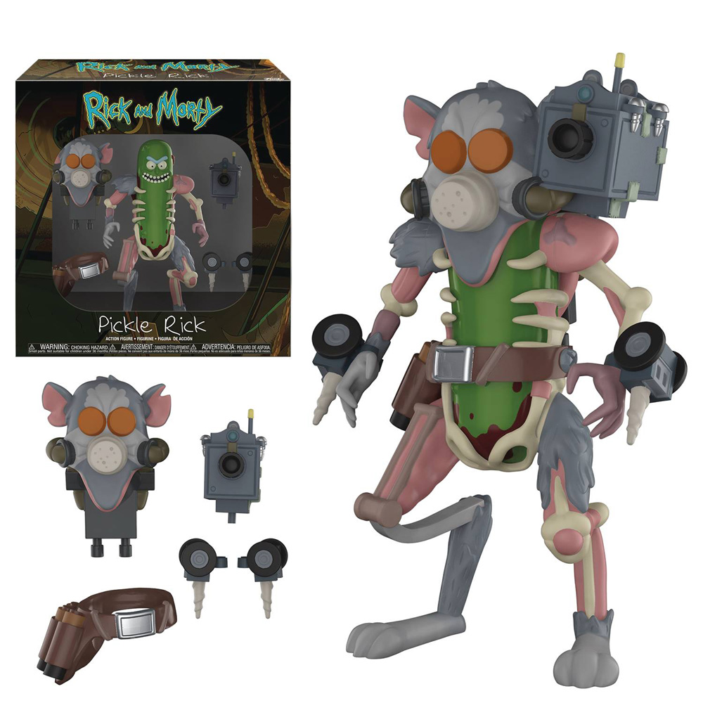 Image: Rick and Morty Action Figure: Pickle Rick  - Funko