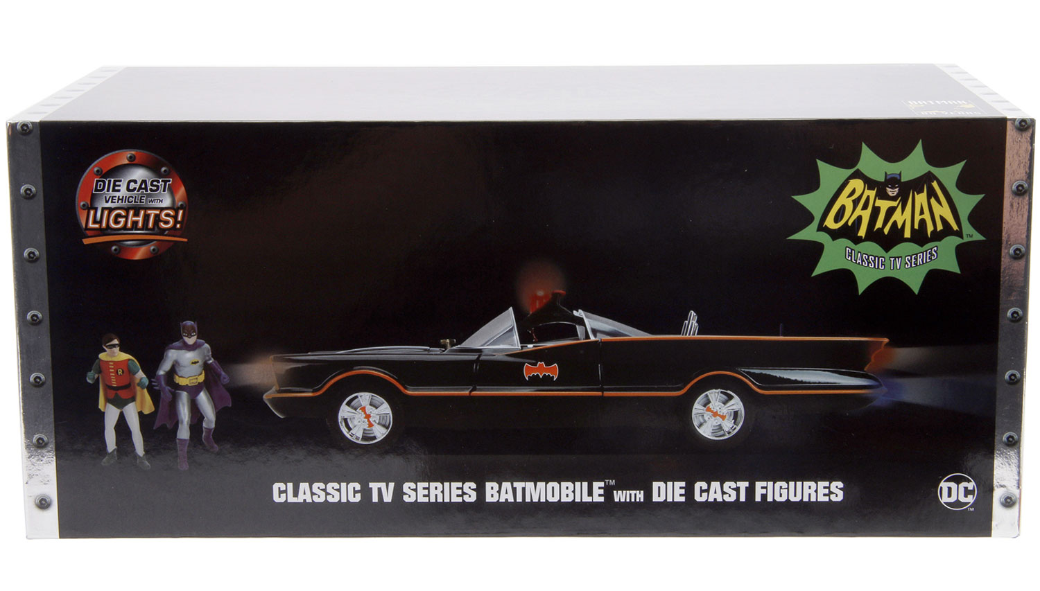 Metals Batmobile Vehicle With Figure: Batman Classic TV Series  (1/18 Scale) -