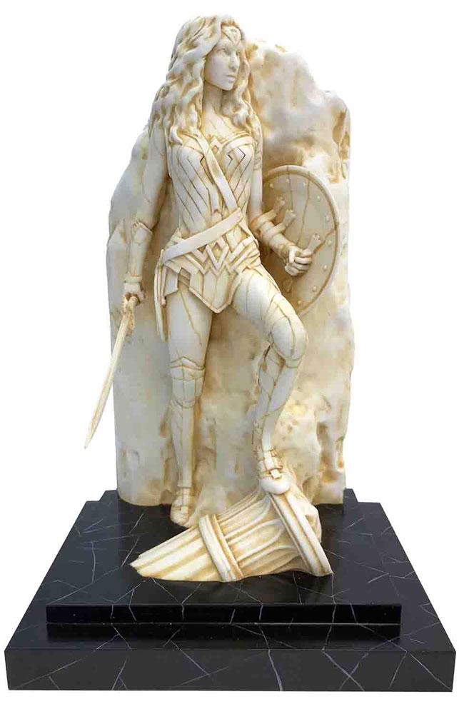 Neo-Classical Wonder Woman Marble Finish Fine Art Statue  -