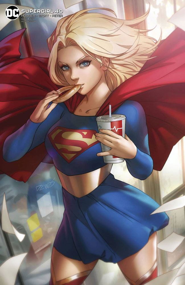Image: Supergirl #40 (variant Card Stock cover - Derrick Chew)  [2020] - DC Comics