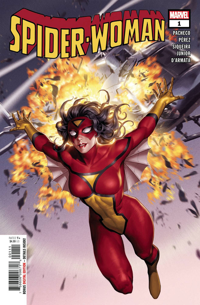 Image: Spider-Woman #1 (Classic Costume cover - Yoon) - Marvel Comics