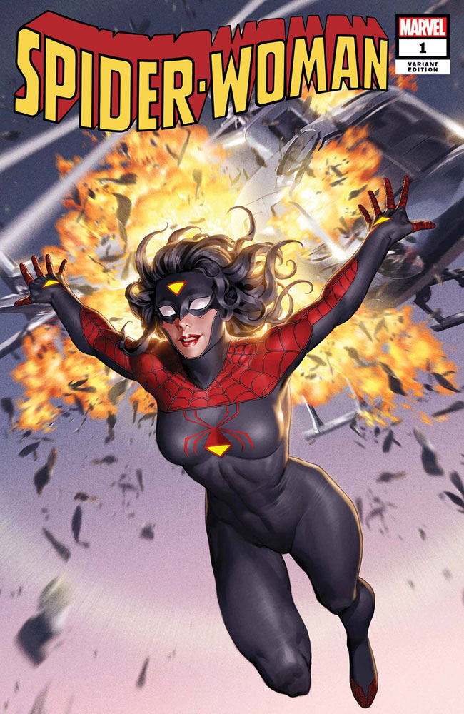 Image: Spider-Woman #1 (New Costume cover - Yoon) - Marvel Comics