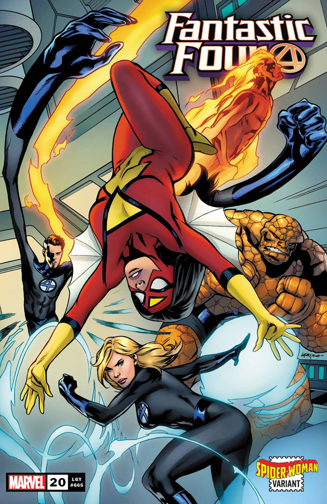 Image: Fantastic Four #20 (variant Spider-Woman cover - Lupacchino)  [2020] - Marvel Comics