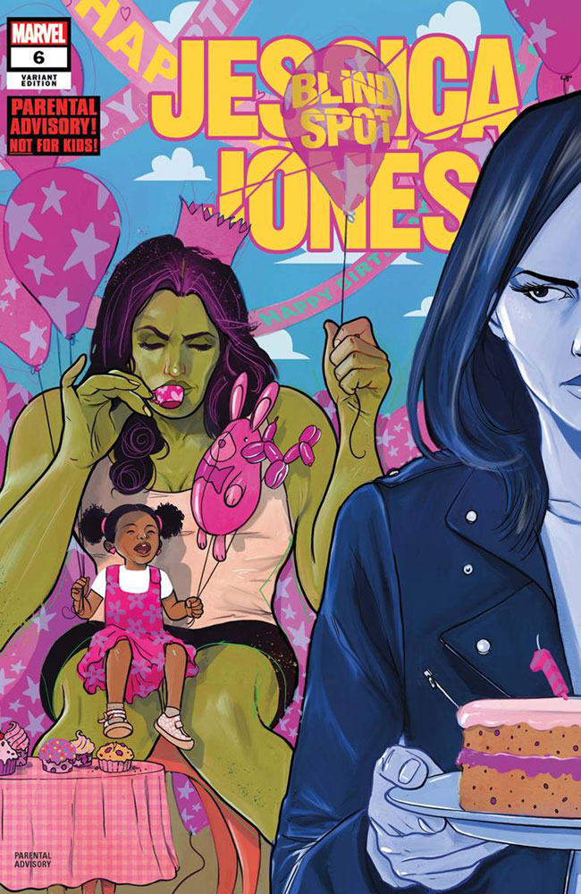 Image: Jessica Jones: Blind Spot #6 (variant cover - Simmonds) - Marvel Comics