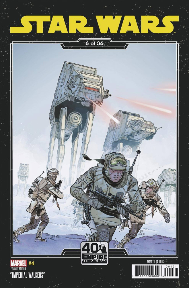 Image: Star Wars #4 (variant Empire Strikes Back cover - Sprouse)  [2020] - Marvel Comics