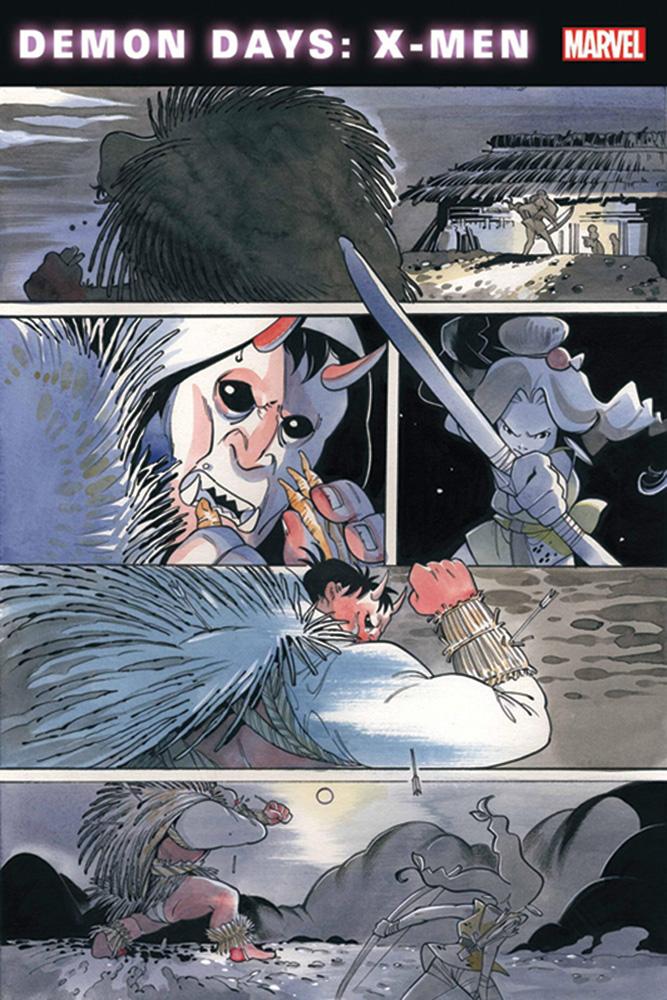 Demon Days: X-Men #1 (variant cover - Yu) - Marvel Comics