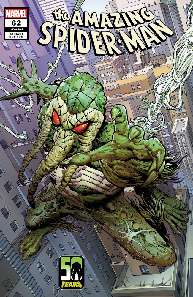 Image: Amazing Spider-Man #62 (variant Spider-Man Man-Thing cover - Land)  [2021] - Marvel Comics