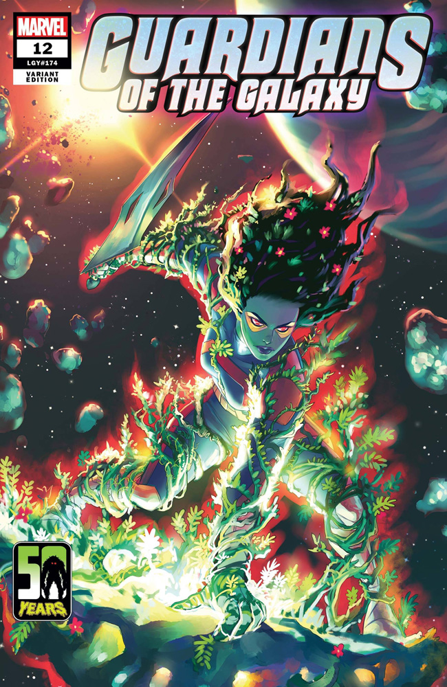 Image: Guardians of the Galaxy #12 (variant Gamora Man-Thing cover - Hetrick) - Marvel Comics