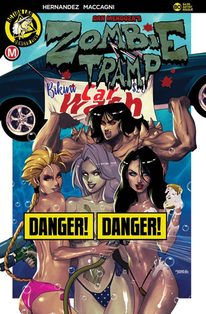 Image: Zombie Tramp #80 (cover D - Mastajwood risque) - Action Lab - Danger Zone