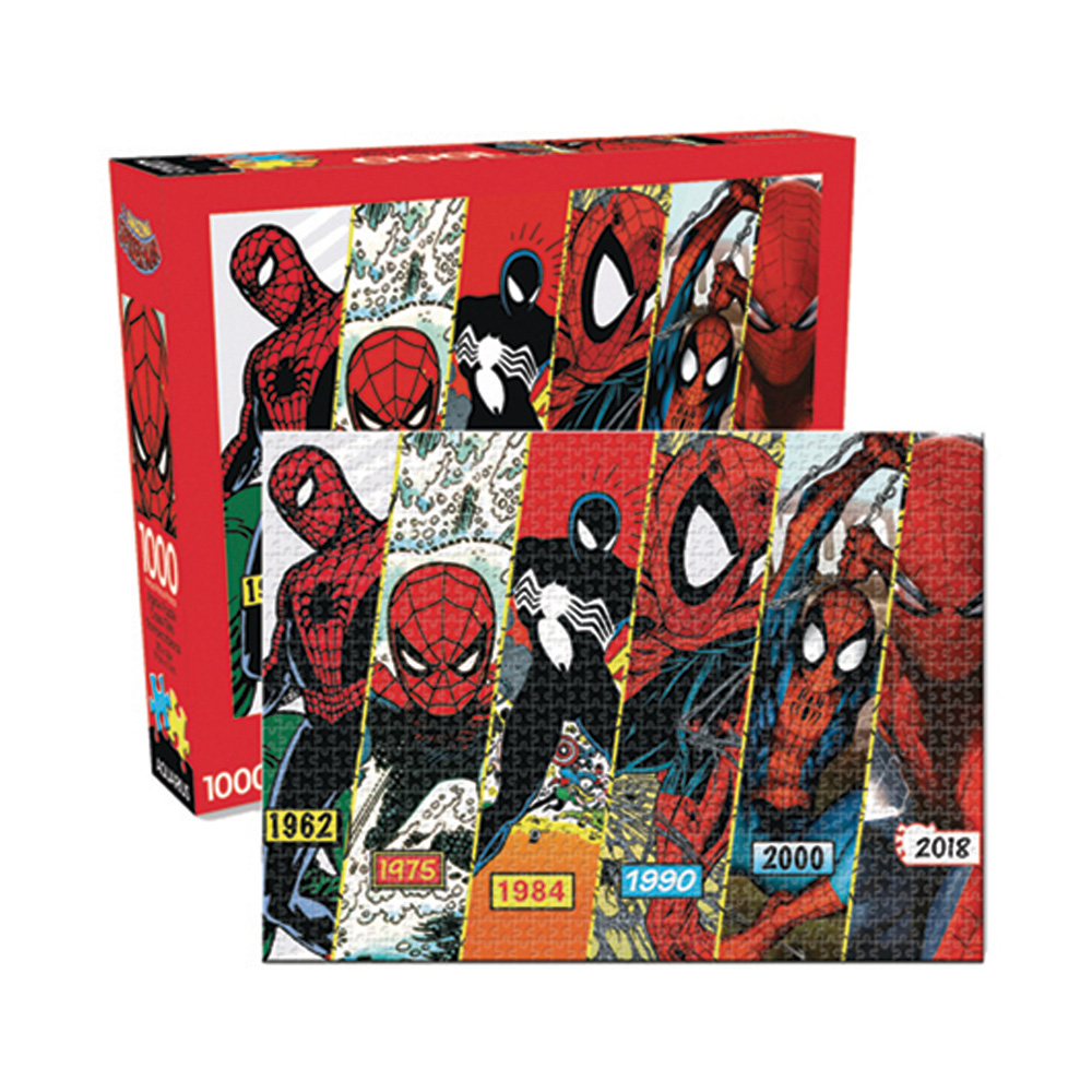 Image: Aquarius Spider-Man Puzzle: Timeline  (1000-Piece) - Nmr Distribution America