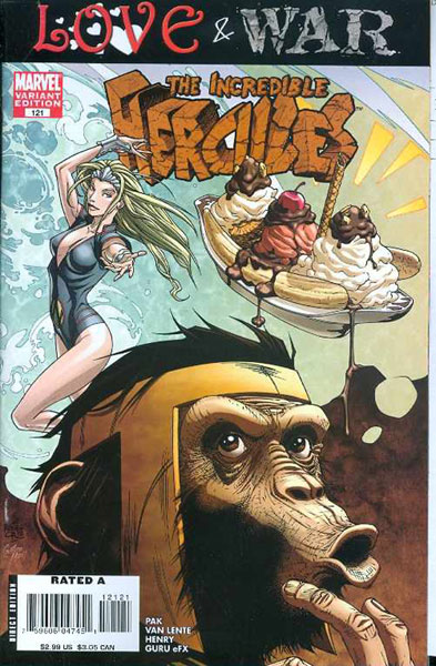 Image: Incredible Hercules #121 (Monkey variant cover) - Marvel Comics