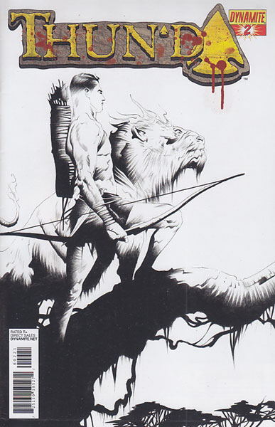 Image: Thun'da #2 (15-copy Lee B&W incentive cover) - Dynamite