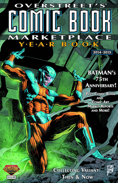 Image: Overstreet's Comic Book Marketplace Yearbook 2014 - 2015  (X-O Manowar cover) - Gemstone Publishing