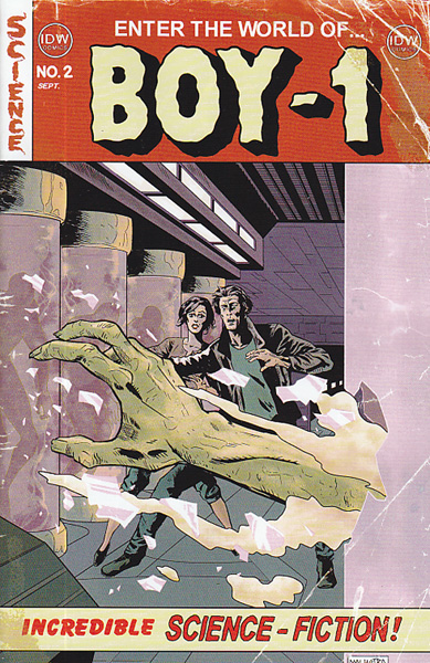 Image: Boy-1 #2 (variant incentive cover - Vic Malhotra) (10-copy) - IDW Publishing
