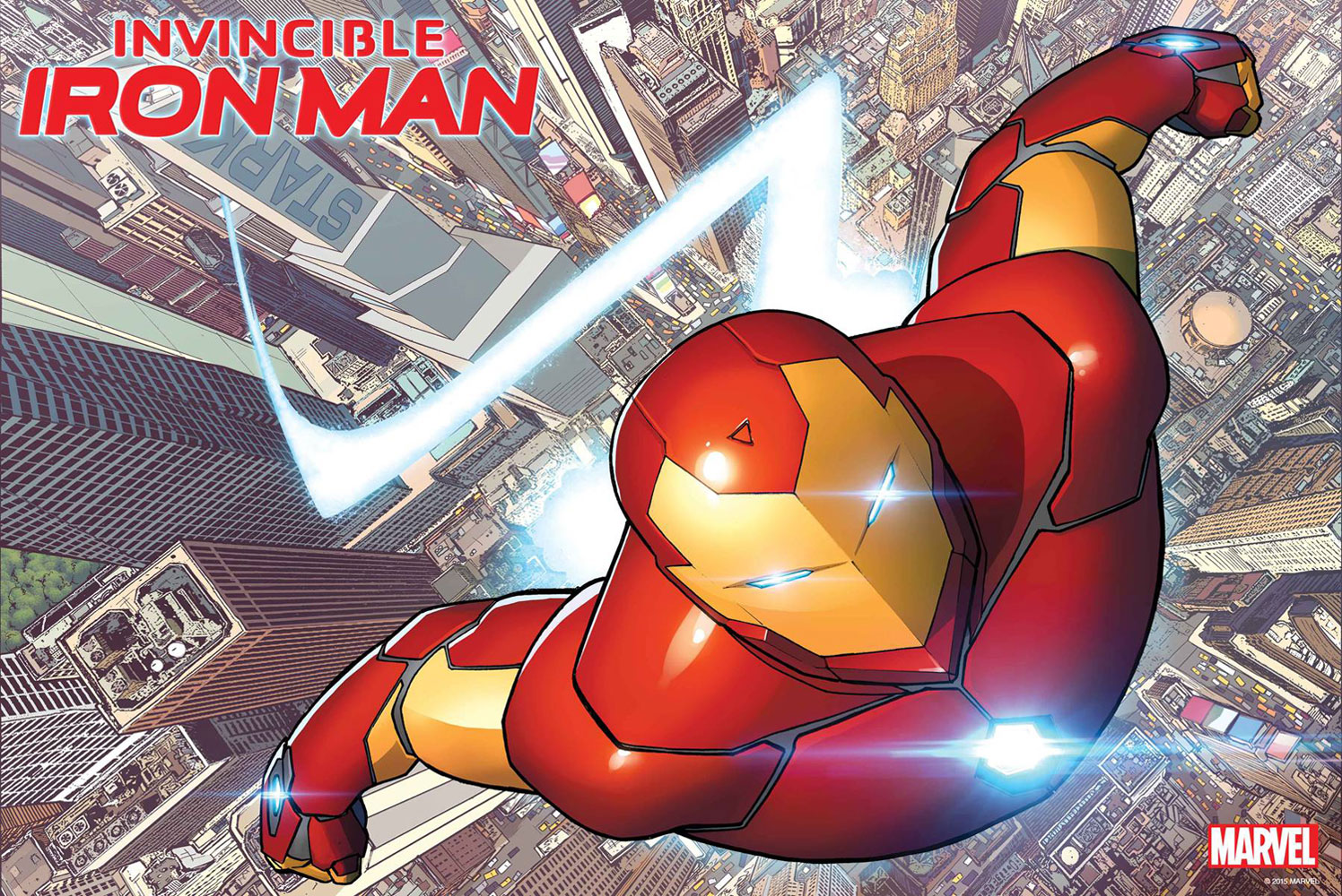 Image: Invincible Iron Man #1 by Marquez Poster  - Marvel Comics