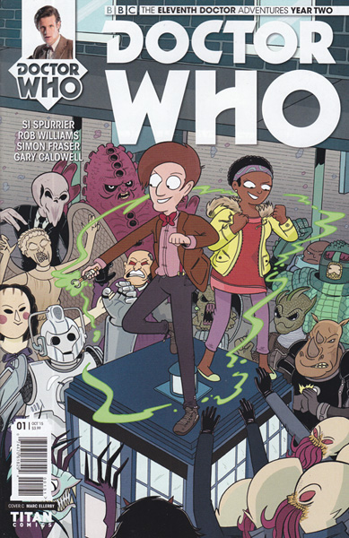 Image: Doctor Who: 11th Doctor - Year Two #1 (variant incentive cover - Marc Ellerby) (10-copy) - Titan Comics