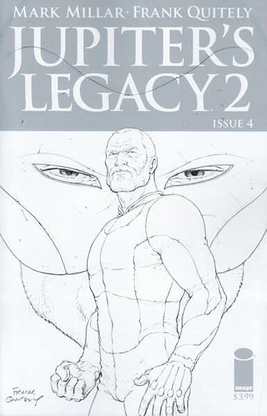 Image: Jupiter's Legacy Vol. 2 #4 (incentive cover - Quitely Sketch) (25-copy)  [2016] - Image Comics