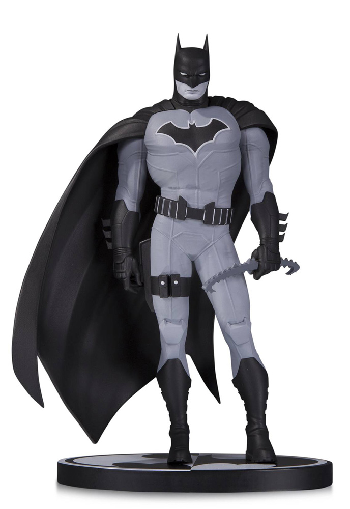 Image: Batman Black & White Statue by John Romita Jr.  - DC Comics