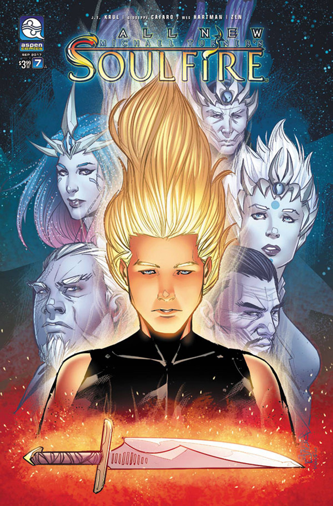 Image: All New Michael Turner's Soulfire Vol. 06 #7 (cover A - Cafaro)  [2017] - Aspen MLT Inc