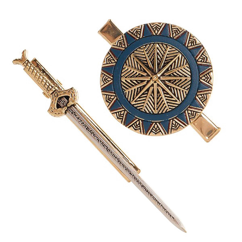 Image: DC Wonder Woman Movie Hair Clip Set: Sword & Shield  - Bioworld Merchandising