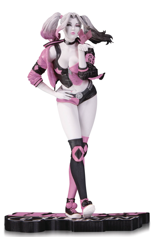 Image: Harley Quinn Pink, White & Black Statue: Stanley 'Artgerm' Lau  ( Valentine's variant) - DC Comics