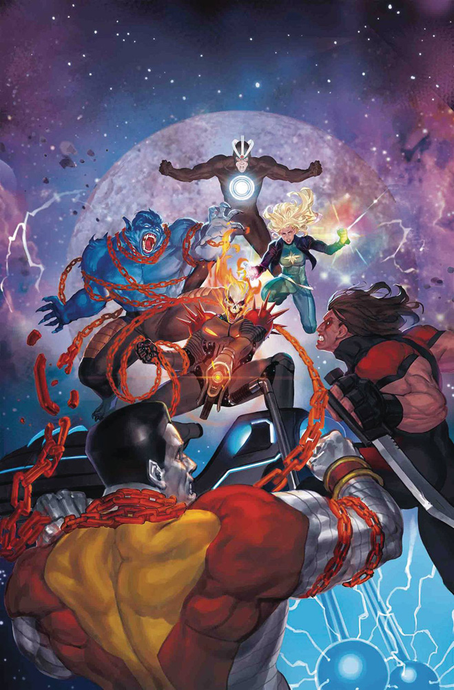 Image: Astonishing X-Men #15 (variant Cosmic Ghost Rider cover - Akcho) - Marvel Comics