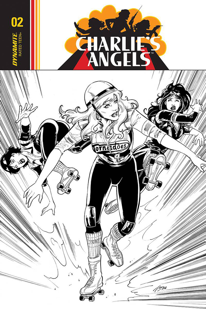 Image: Charlie's Angels #4 (incentive cover - Cifuentes B&W) (20-copy)  [2018] - Dynamite
