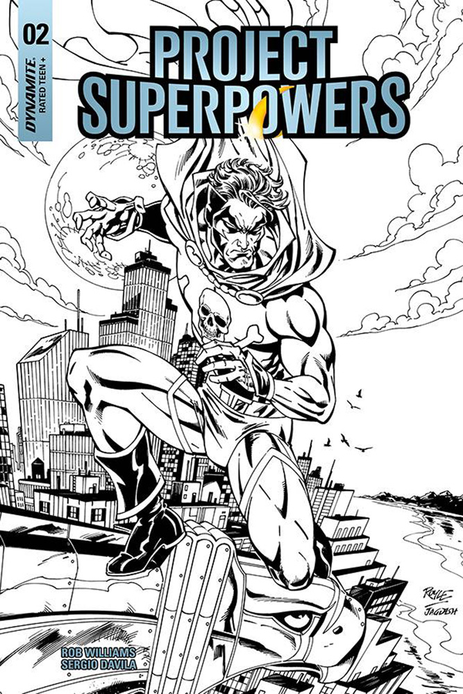 Image: Project Superpowers: Chapter Three #2 (incentive cover - Royle B&W) (20-copy)  [2018] - Dynamite