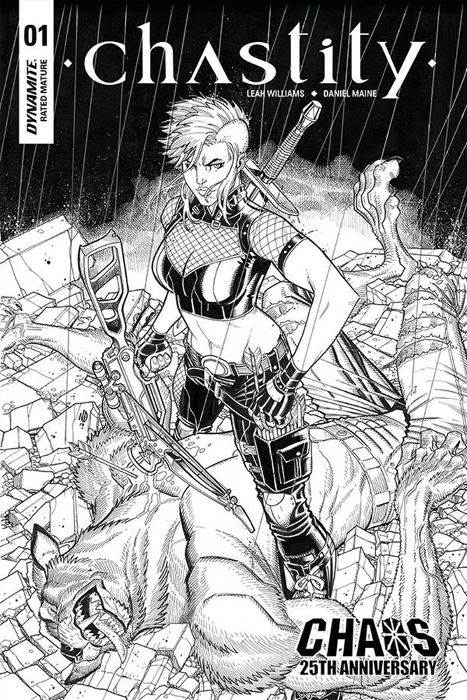 Image: Chastity Vol. 02 #1 (incentive cover - Bradshaw B&W) (20-copy)  [2019] - Dynamite