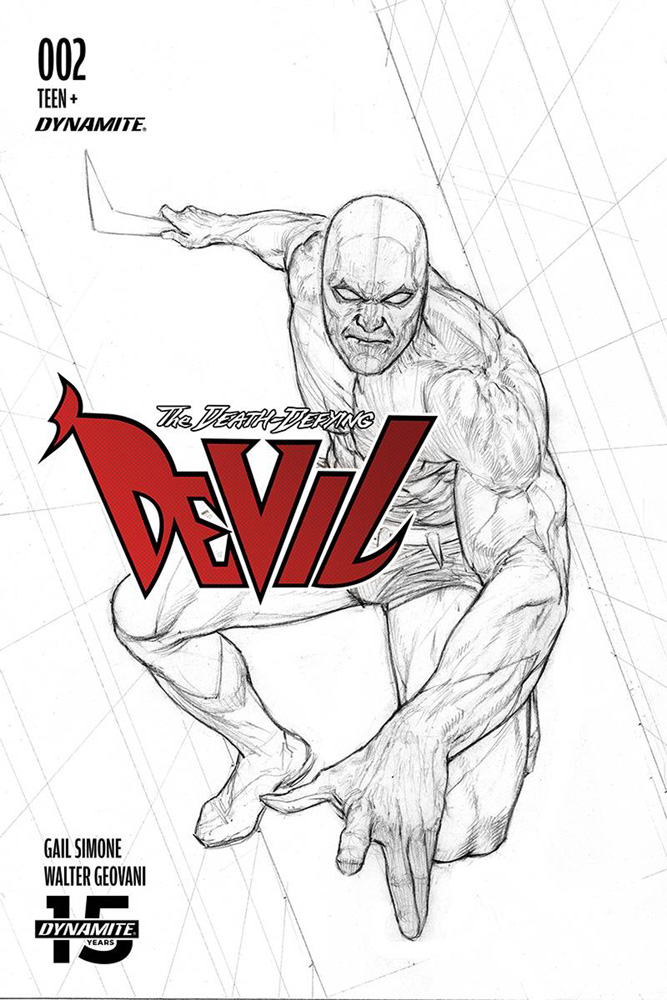Image: Death-Defying Devil Vol. 02 #2 (incentive cover - Federici B&W) (10-copy)  [2019] - Dynamite