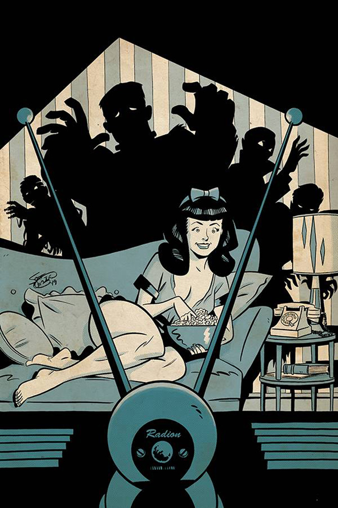 Image: Bettie Page: Unbound Vol. 03 #6 (incentive 1:30 cover - Chantler virgin)  [2019] - Dynamite
