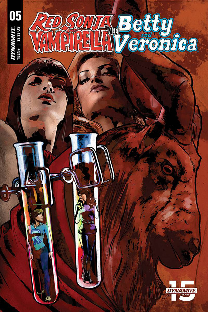 Image: Red Sonja and Vampirella Meet Betty and Veronica #5 (cover E - Staggs) - Dynamite