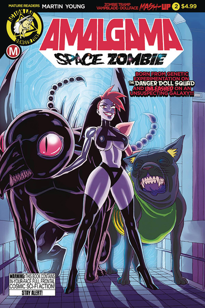 Image: Amalgama: Space Zombie #2 (cover A - Young) - Action Lab - Danger Zone