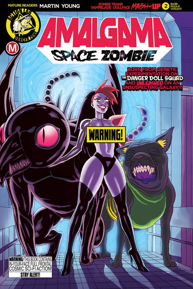 Image: Amalgama: Space Zombie #2 (cover B - Young risque) - Action Lab - Danger Zone