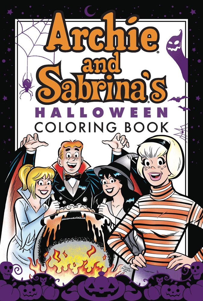 Image: Archie & Sabrina Halloween Coloring Book SC  - Archie Comic Publications