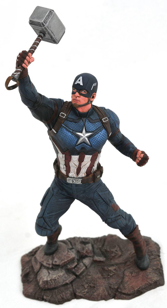 Image: Marvel Gallery PVC Diorama: Avengers Endgame - Captain America  - Diamond Select Toys LLC