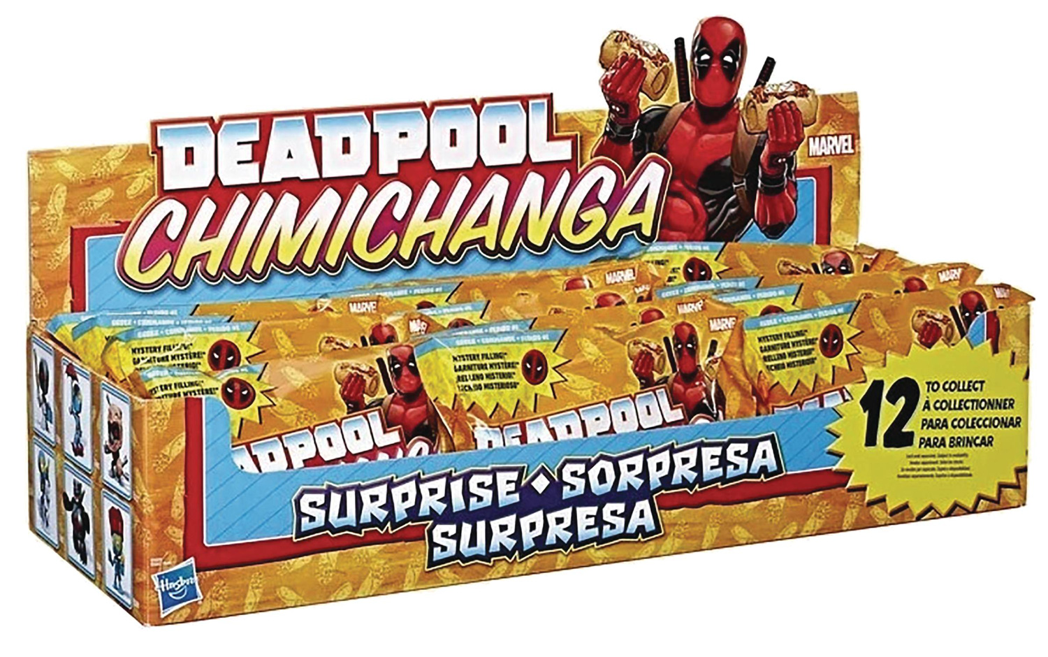 Image: Marvel Deadpool Chimichanga Surprise 12-Piece Blind Mystery Box Display  - Ucc Distributing