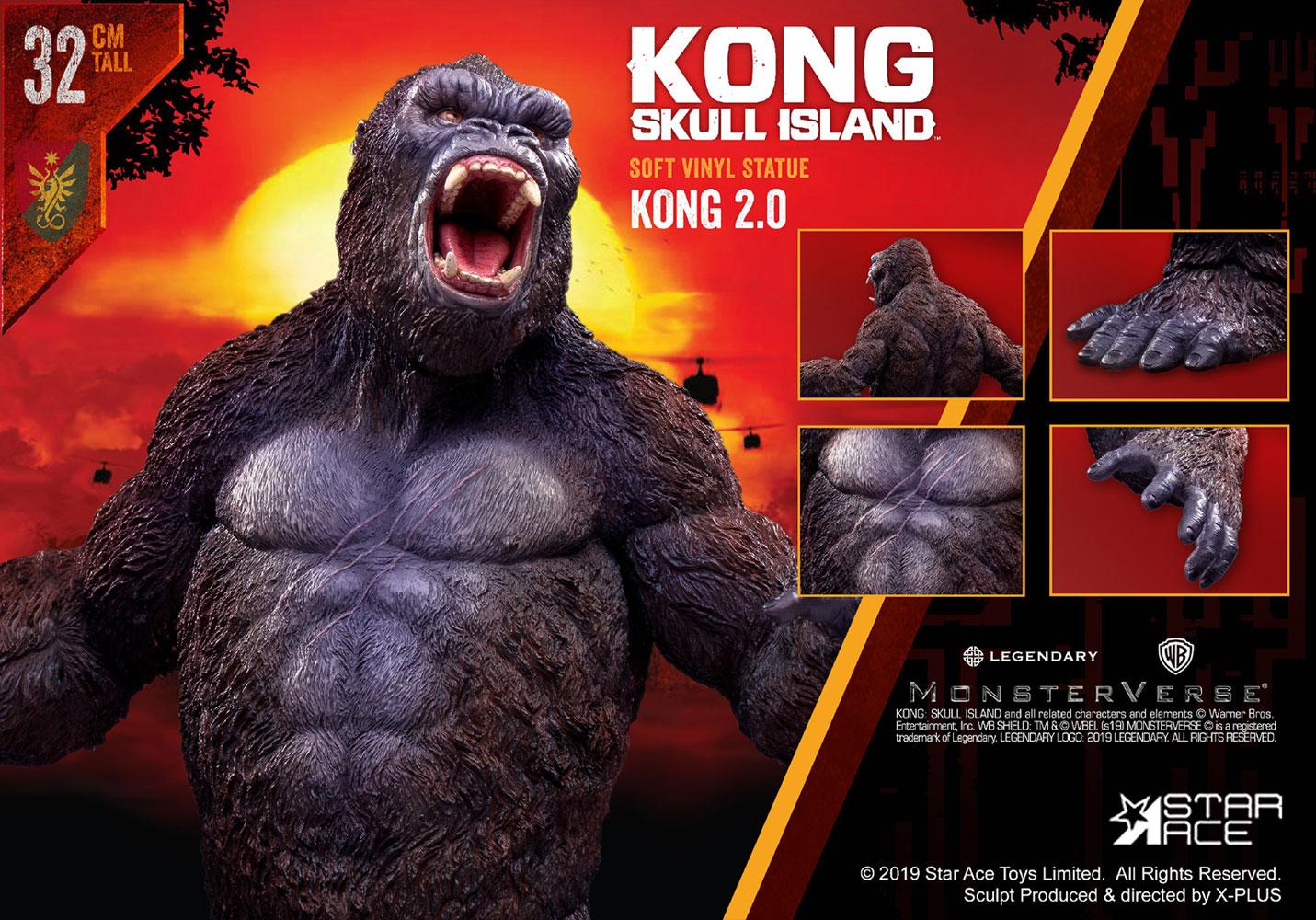 Kong Skull Island Soft Vinyl Statue: Kong 2.0  - Star Ace Toys Limited