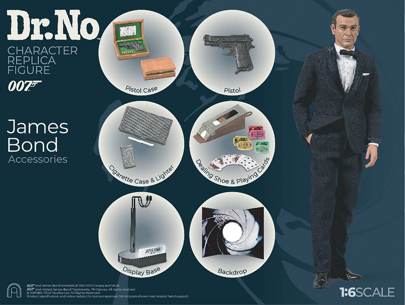 James Bond Limited Collector Figure: Dr. No James Bond  (1/6 Scale) - Big Chief Studios
