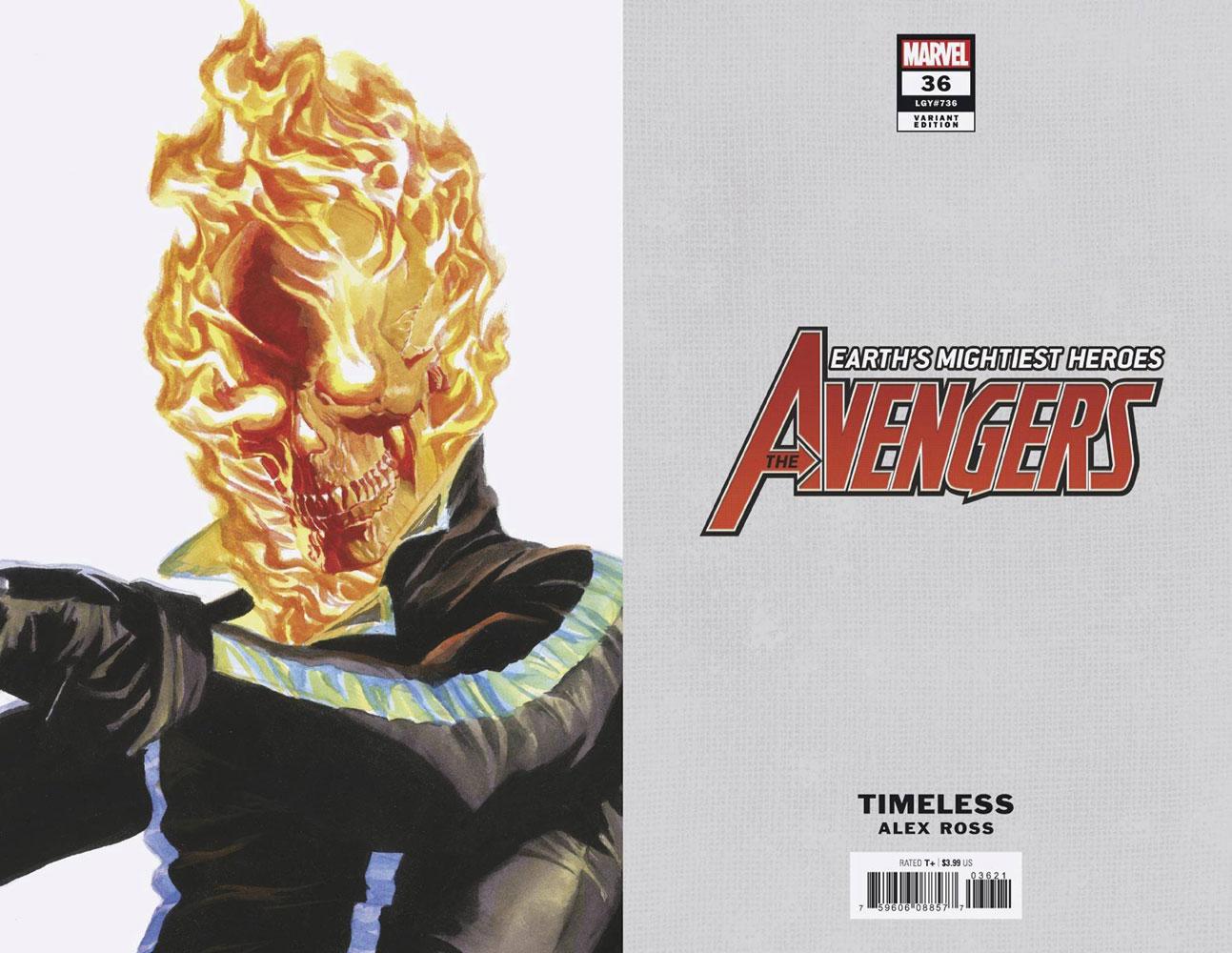 Avengers #36 (variant Alex Ross Timeless cover - Ghost Rider) - Marvel Comics