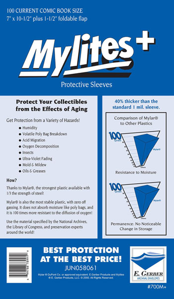 Image: Mylites+ Sleeves: Current Size  (7x10-3/4) (100) -