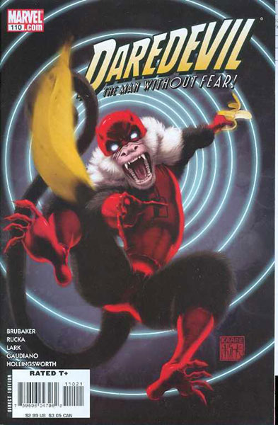 Image: Daredevil #110 (Monkey variant cover) - Marvel Comics