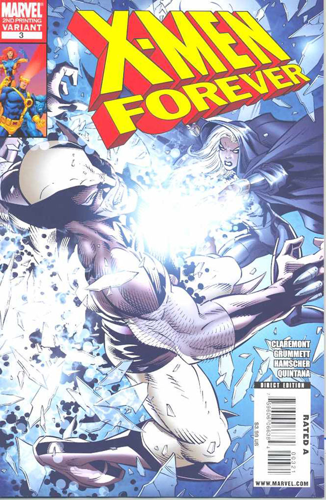 Image: X-Men Forever #3 (variant 2nd printing cover - Tom Grummett)  [2009] - Marvel Comics
