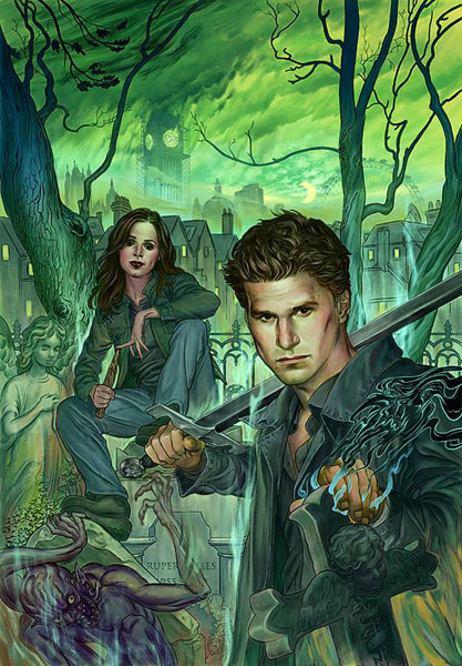 Image: Angel & Faith #1 (Steve Morris cover) - Dark Horse Comics