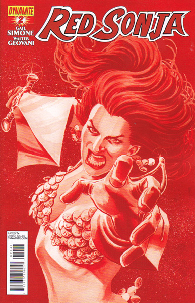 Image: Red Sonja #2 (25-copy Scott Red incentive cover) - Dynamite