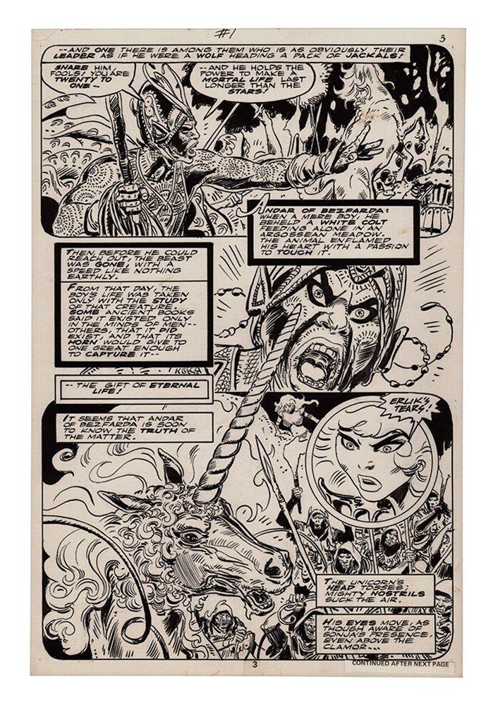 Frank Thorne's Red Sonja Artist Edition Vol. 02 HC  (signed) - Dynamite