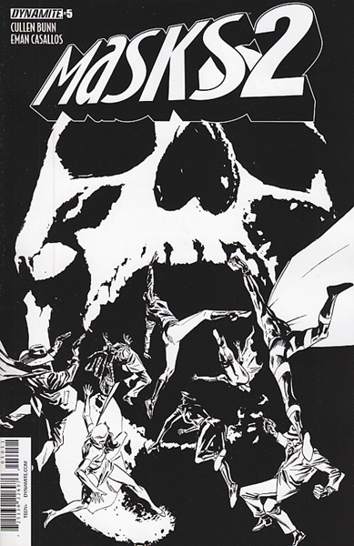 Image: Masks 2 #5 (Guice b&w incentive cover - 05051) (15-copy) - Dynamite